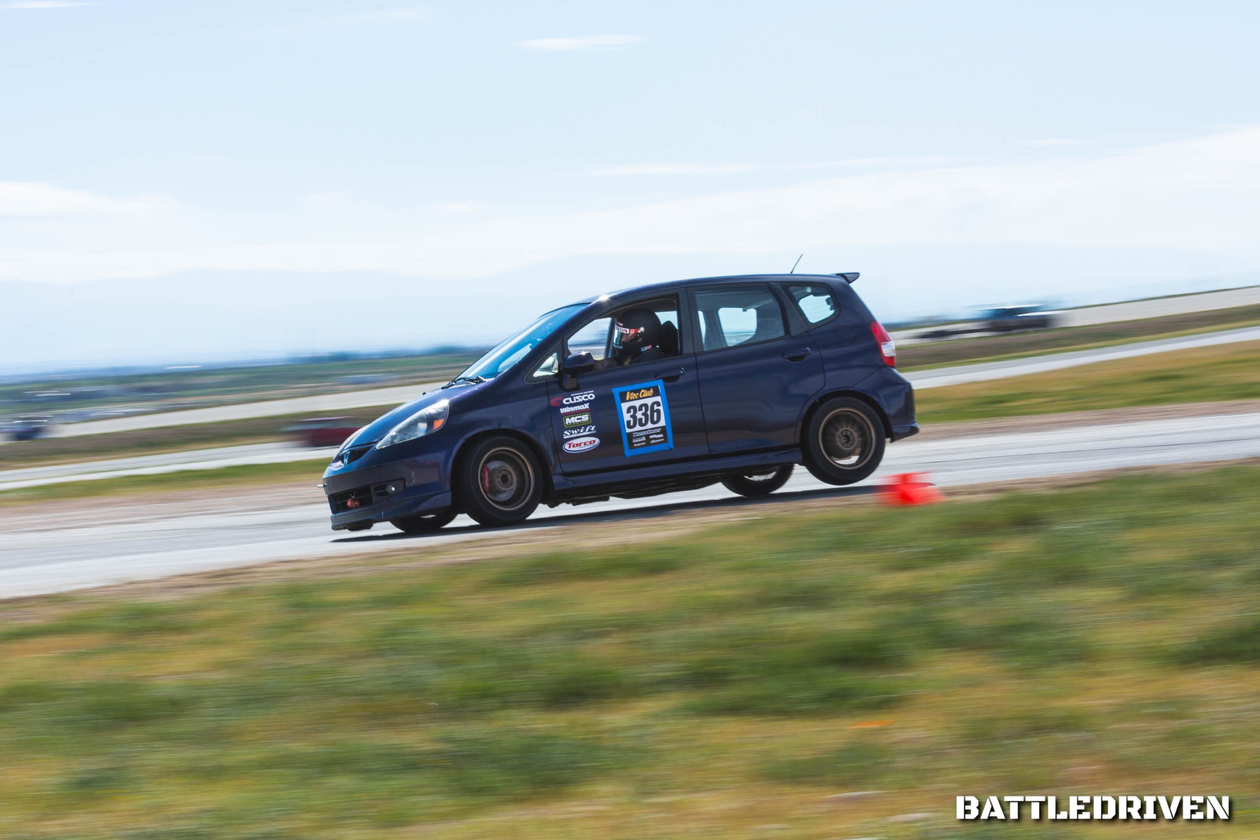 Remember the real MVP that helped another Honda Fit racer out of a sticky situation? Rocco B. (@rollerboots666) three-wheeling after the chicane, because he was definitely the MVP this day.