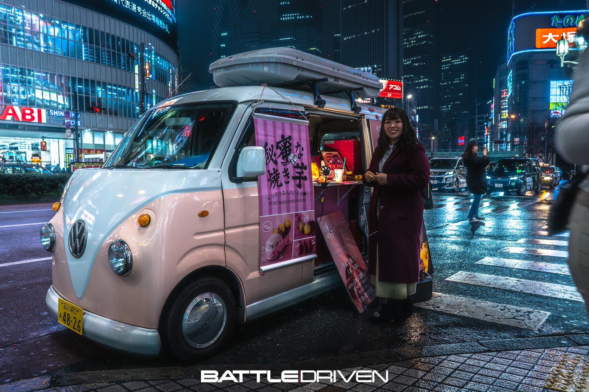 Random sweet potatoes street vendor in Shinjuku to end this small coverage.