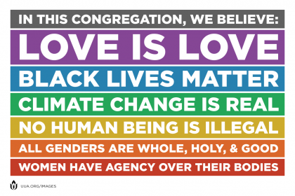 We Welcome - …all faiths and beliefs – Atheism to earth-centered beliefs to mainstream religions…all families – Single, married, same-gender, grandparent/child, interfaith…all orientations…all genders…all ethnicities…all ages…all traditions