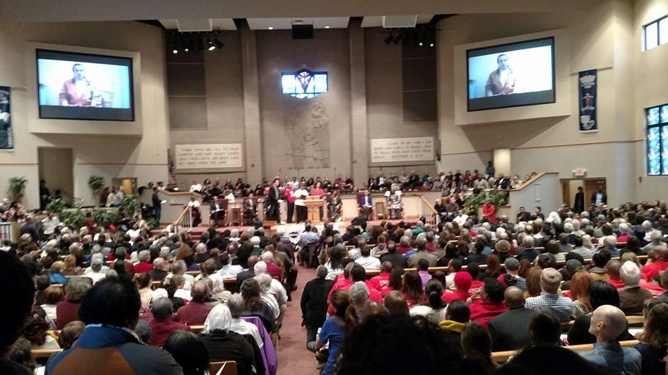 Nashville Mayoral Candidates Forum NOAH (GNUUC) Feb 2015 overflow crowd.jpg