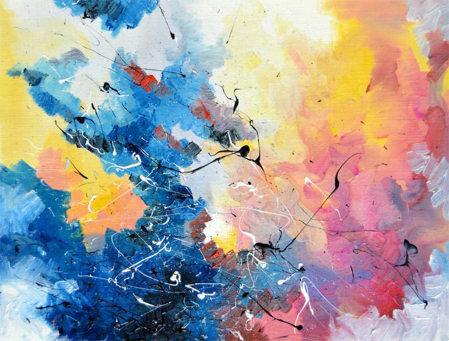 """Synesthete Melissa McCracken paints music. This is David Bowie's """"Life on Mars""""."""