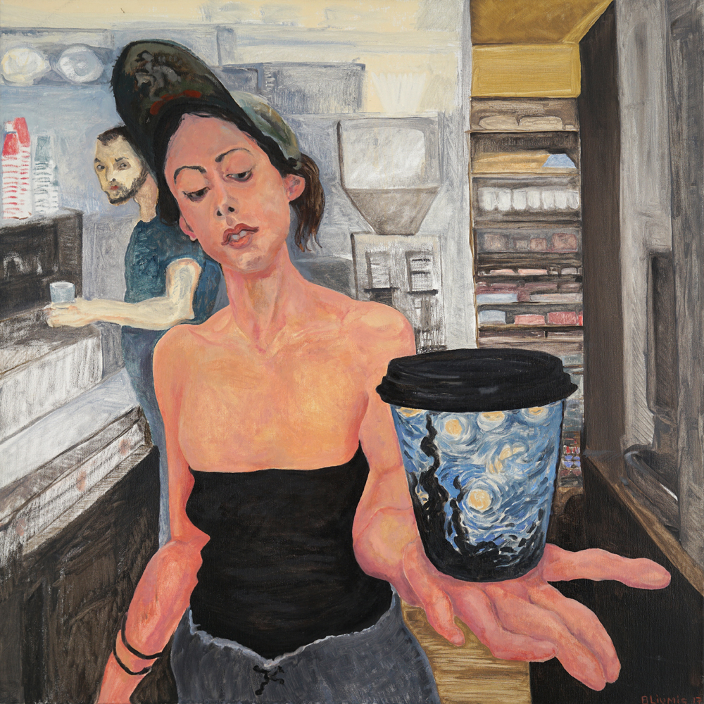 Lucy, 2018, oil on canvas, 36 x 36 inches