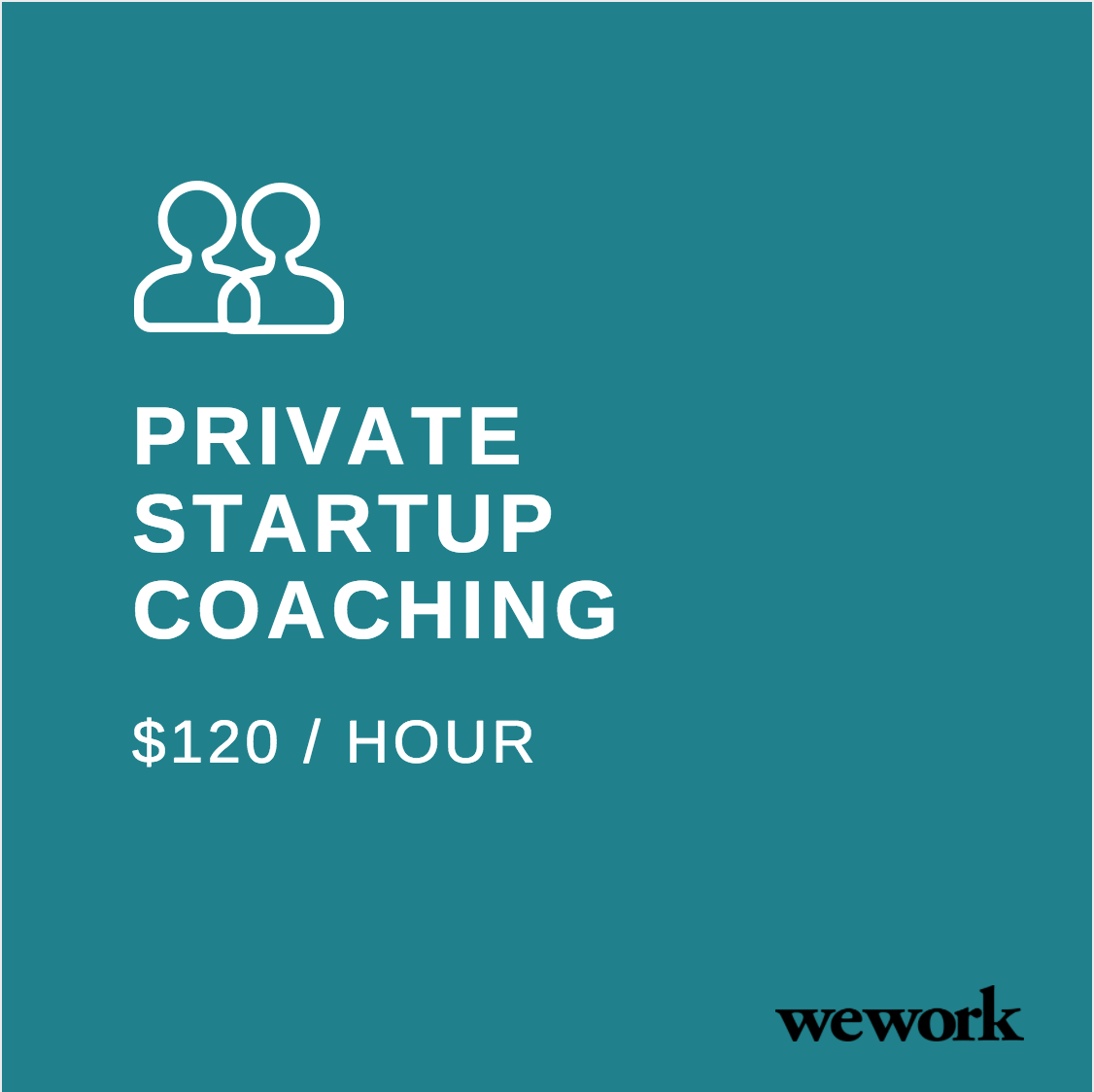 WeWork Startup Coaching Offer