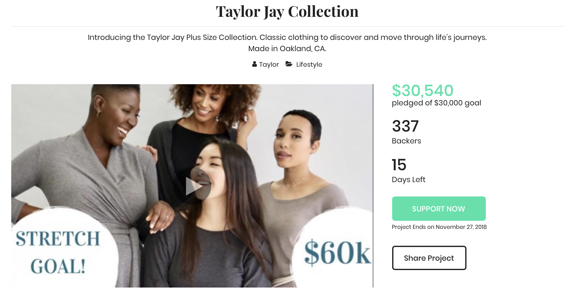 Taylor Jay is the Founder & CEO of  Taylor Jay Collection , a women's apparel line out of Oakland, California.