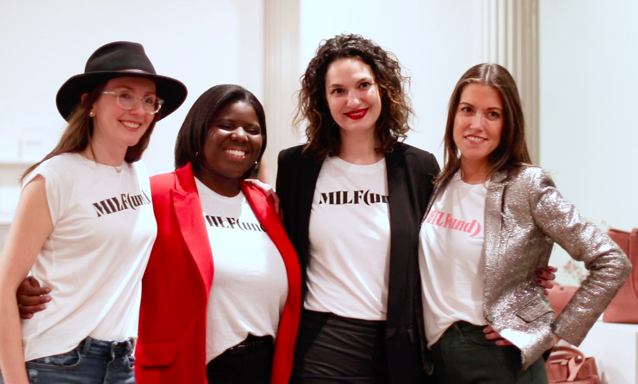 Sarah Sommers, Olivia Owens, and Zeina Muna of iFundWomen joined by Amri Kibbler, Co-Founder of HEYMAMA