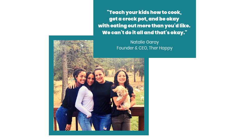 Natalie Garay, Founder & CEO,  Ther Happy , with her three daughters.
