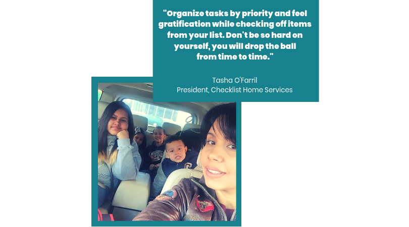 Tasha O'Farril, President,  Checklist Home Services , with her kids.