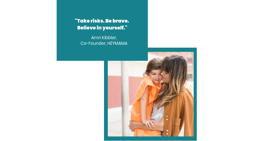 Amri Kibbler, Co-Founder,  HEYMAMA , with her daughter.