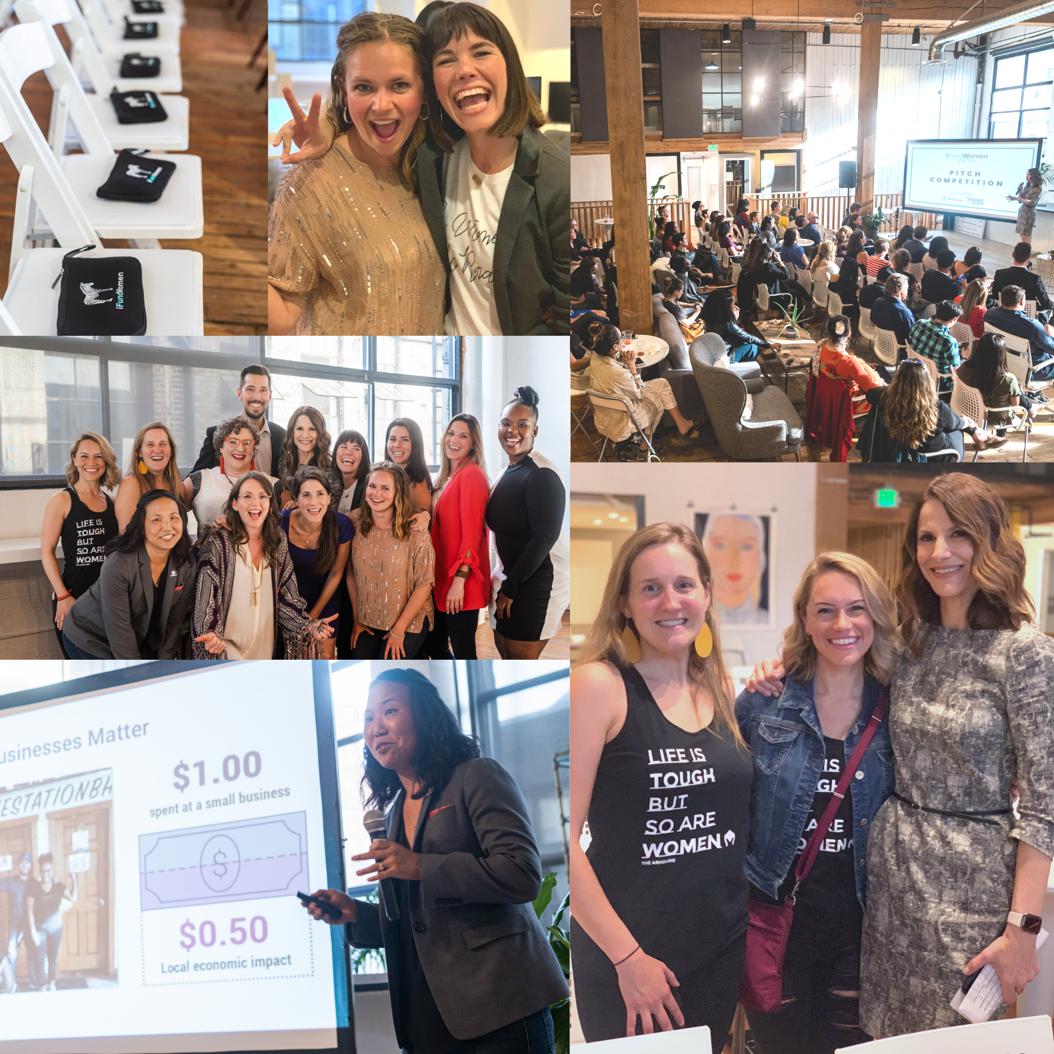 Happenings at the  iFundWomen Seattle  Pitch Competition on June 4th, 2019.