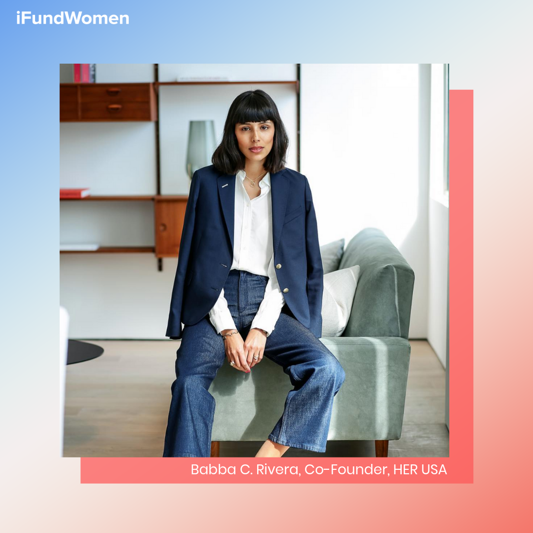 Babba C. Rivera, iFundWomen entrepreneur & co-founder of  HER USA