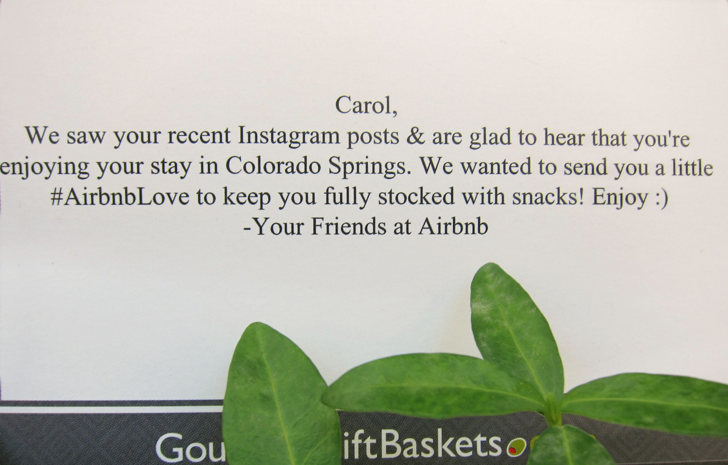 Thanks for listening to your community, Airbnb. And for the very yummy snacks!
