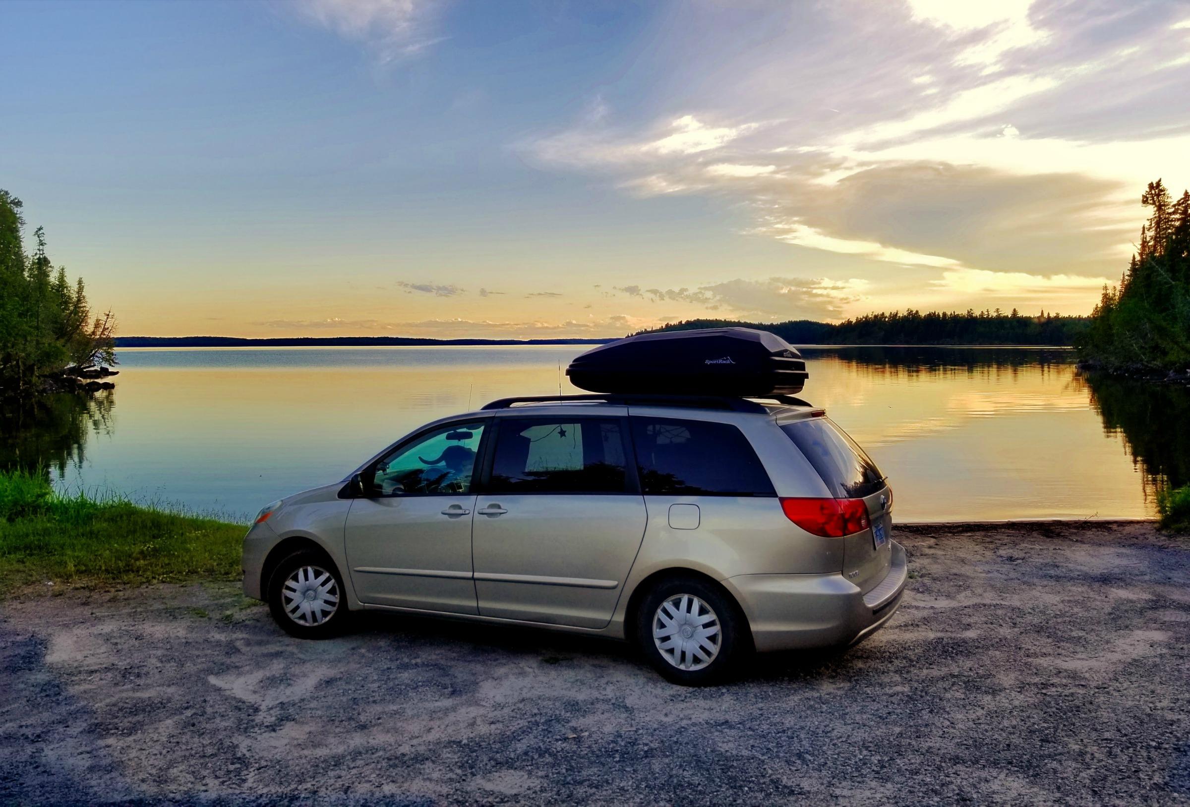 My minivan home