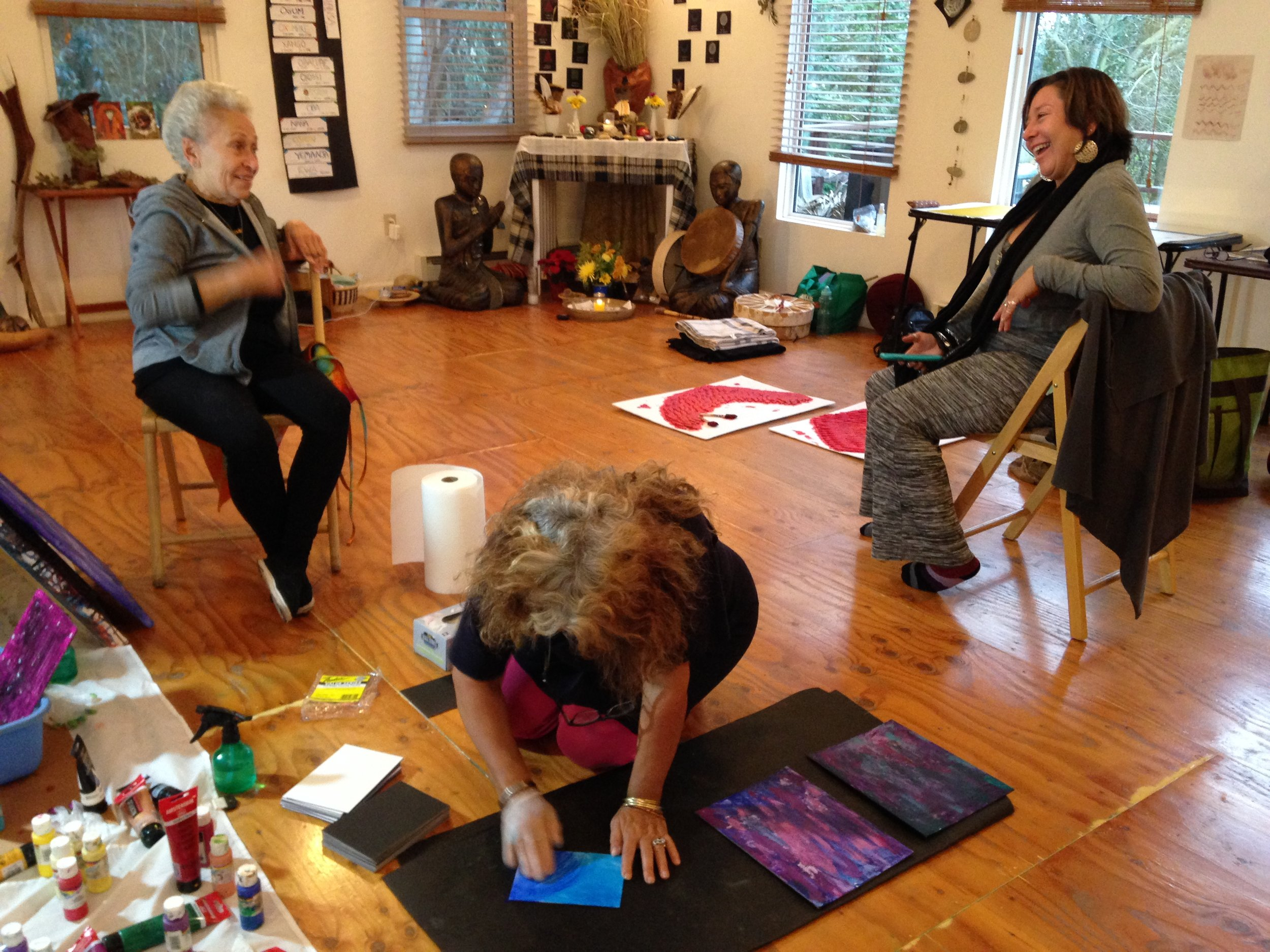 Laughter and creative chaos during the 2nd month long SOTO Pilot Project, Winter 2015, Santa Cruz County