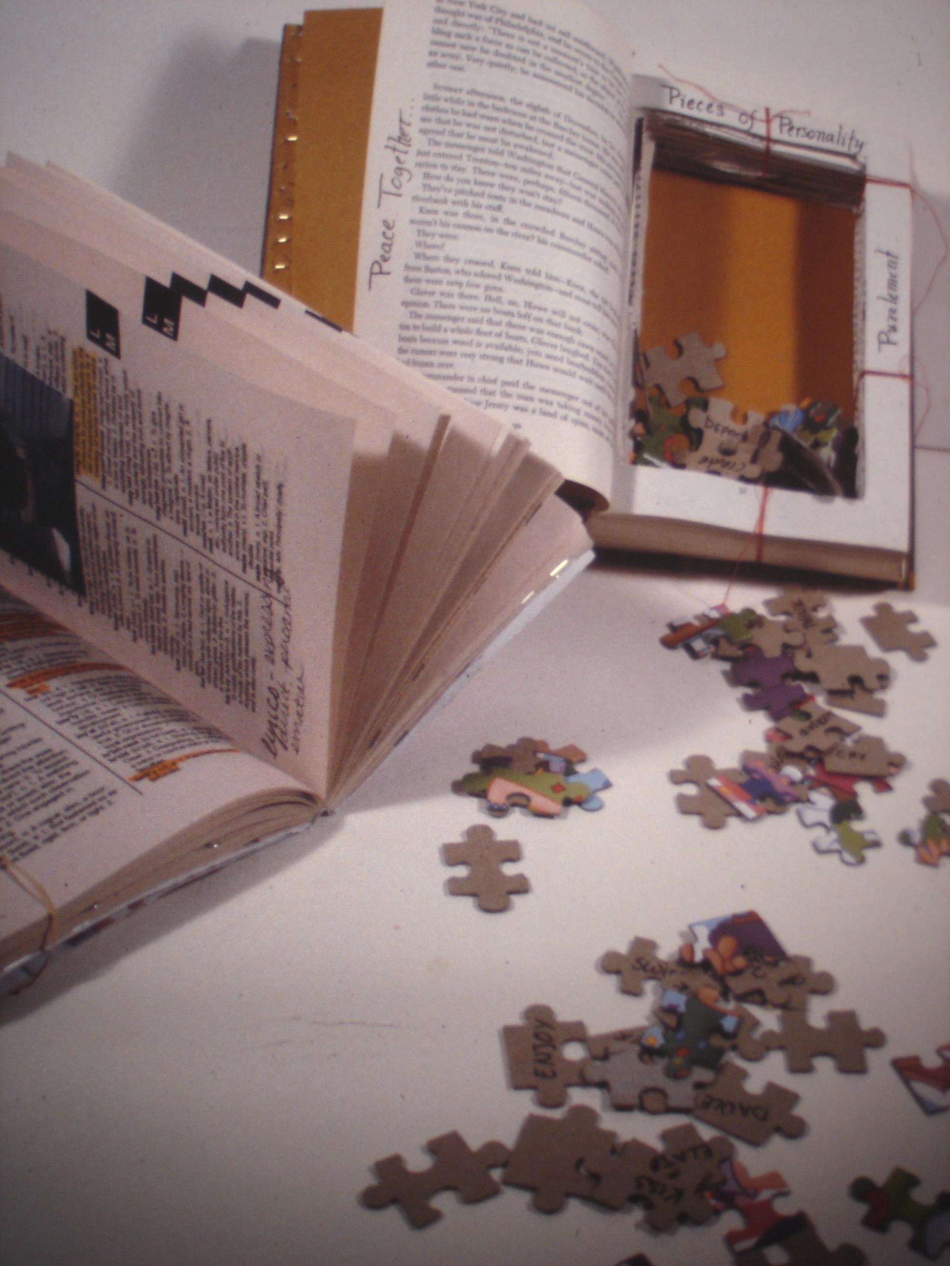 Mixed Media, Book, Puzzle Pieces