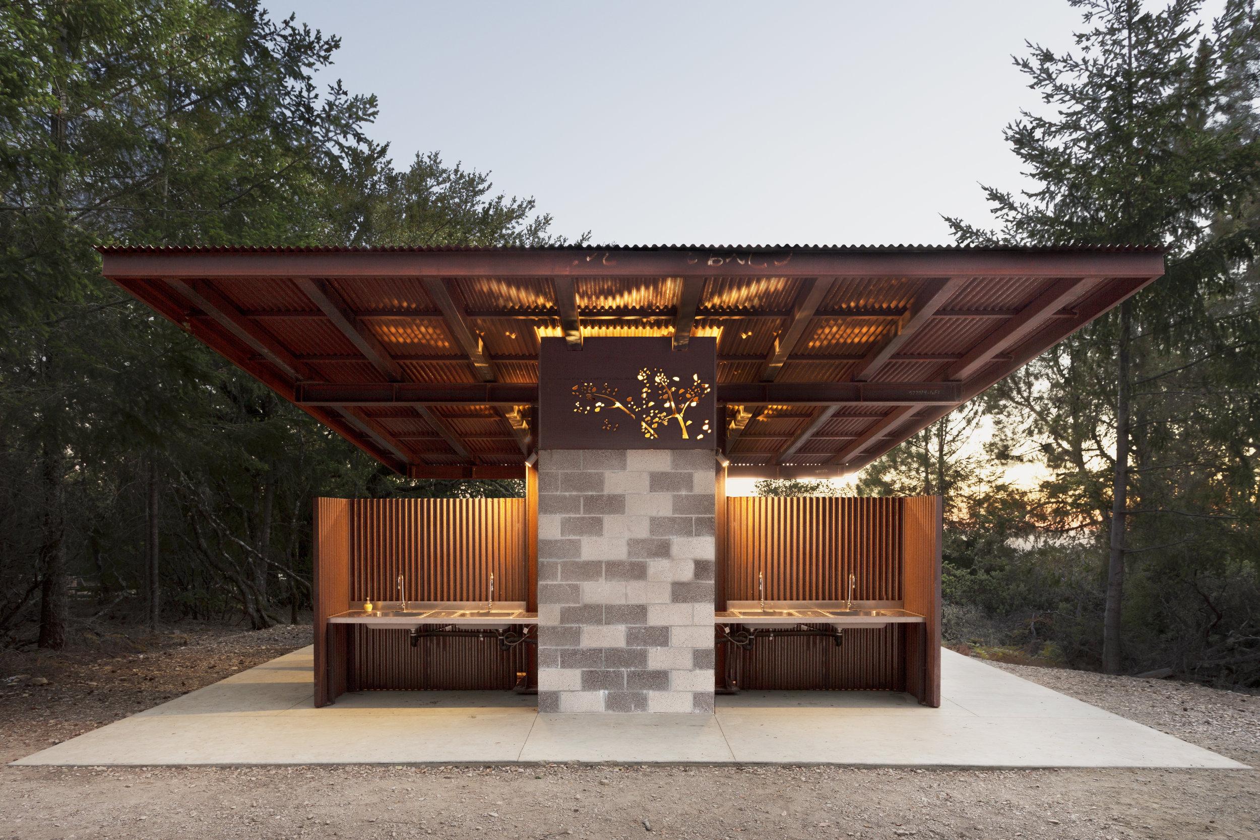 Metal Exterior Bathroom Santa Cruz