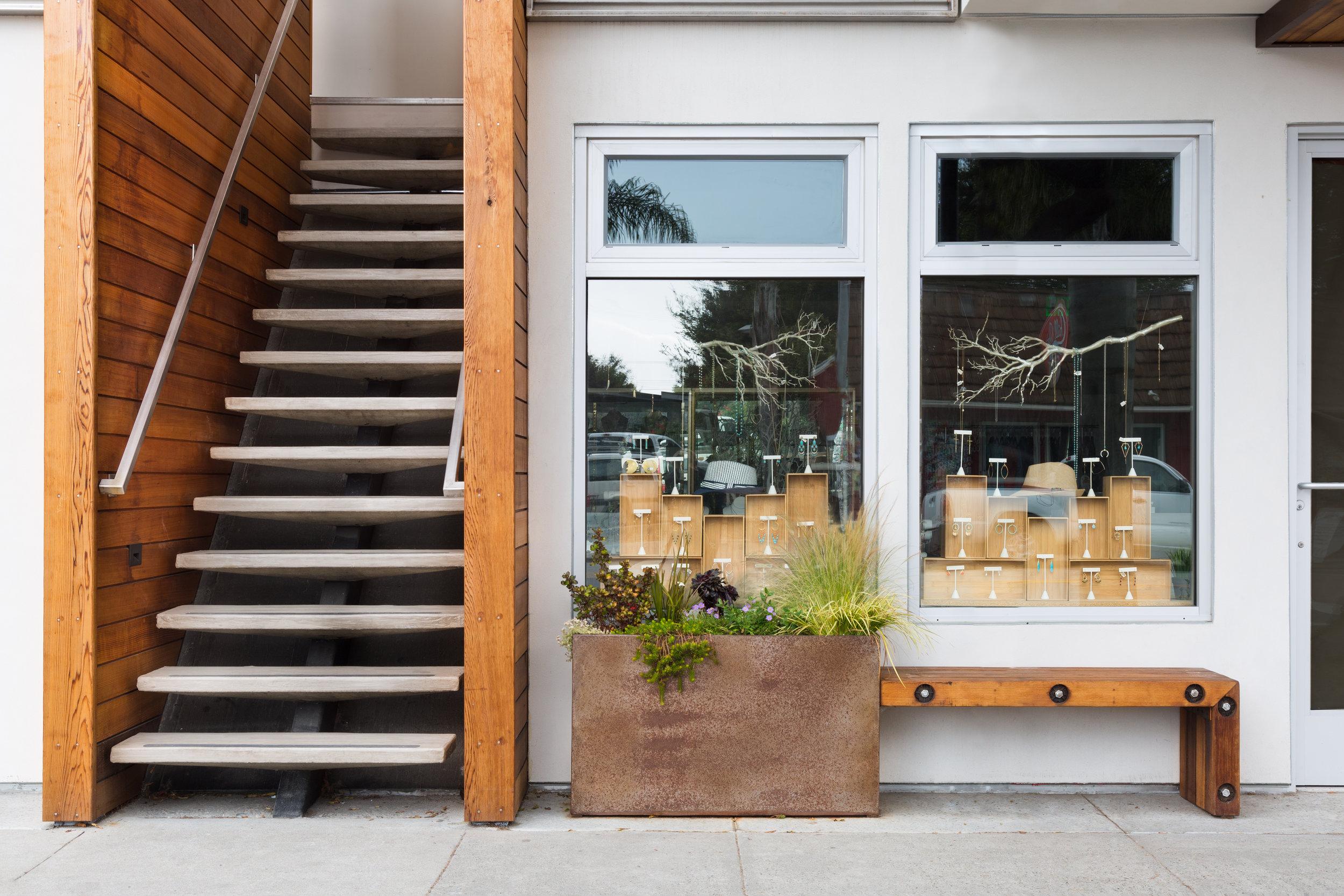 custom planter corten steel fuse, stair