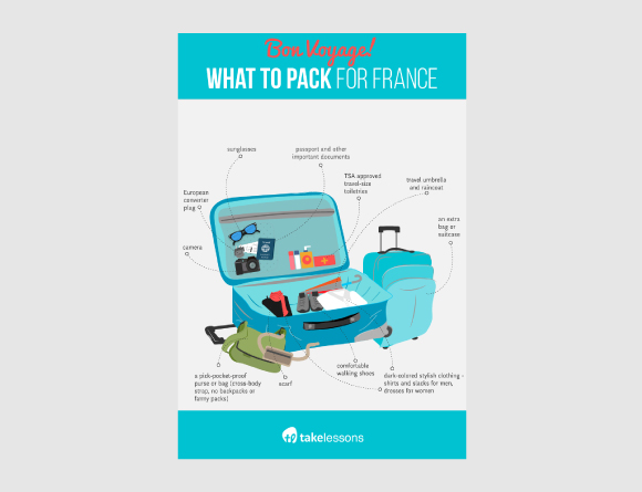 What ti pack for France Infographic