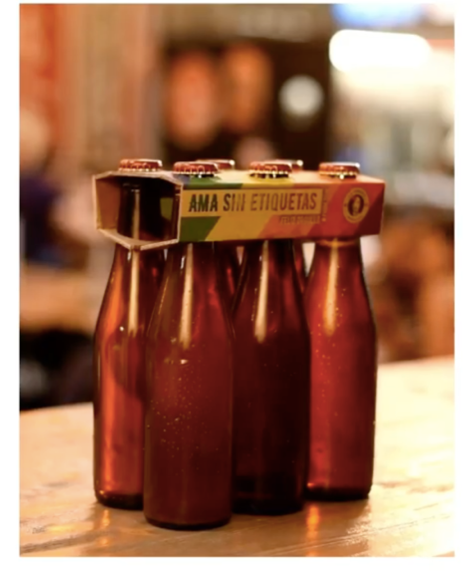 In Spain,  Cervezas La Virgen  removed labels from beer bottles in support of LBGTQ rights.