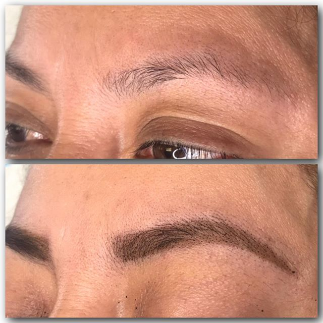 Henna works great for those who are interested in powder but like to take a test run. As soon as I was done with my client she scheduled her powder brow appointment. ♥️. Dip your toes and then take the plunge! Call 512-731-5589 to schedule your brow transformation appointment.
