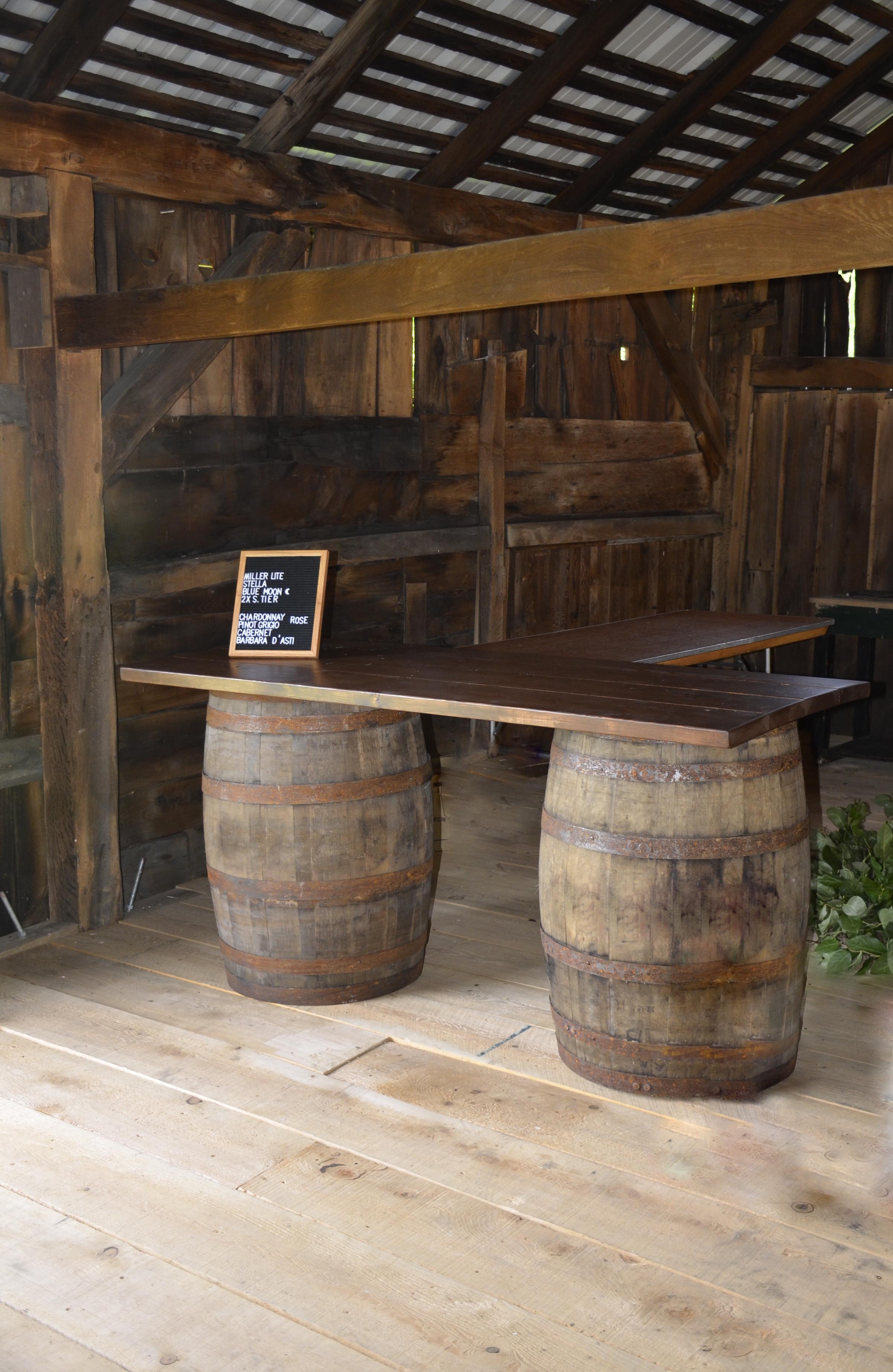 Penn Rustics Rentals_Clay Wedding_Barrel Bar.jpg