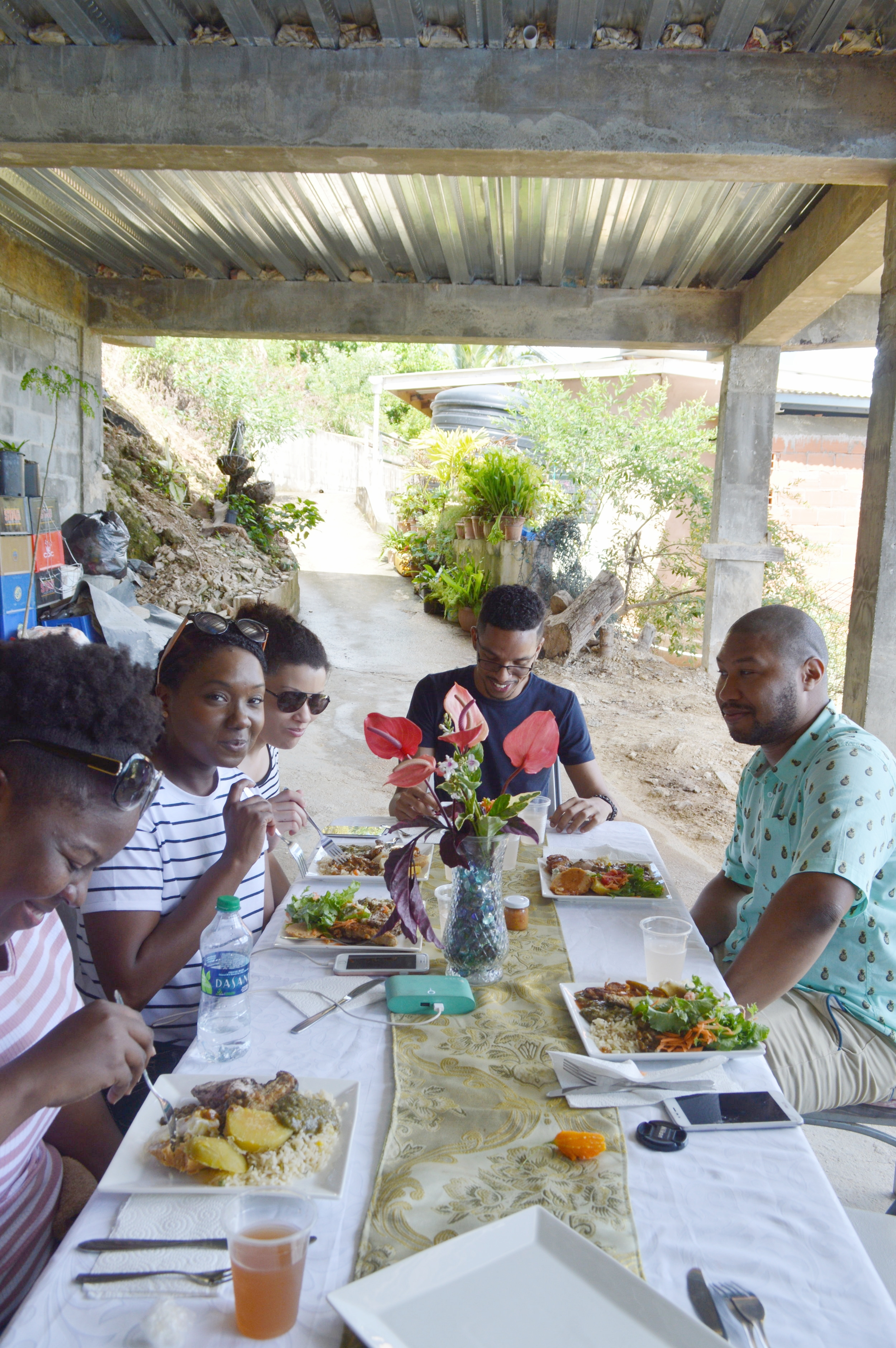 Sunday Lunch in the hills of Paramin