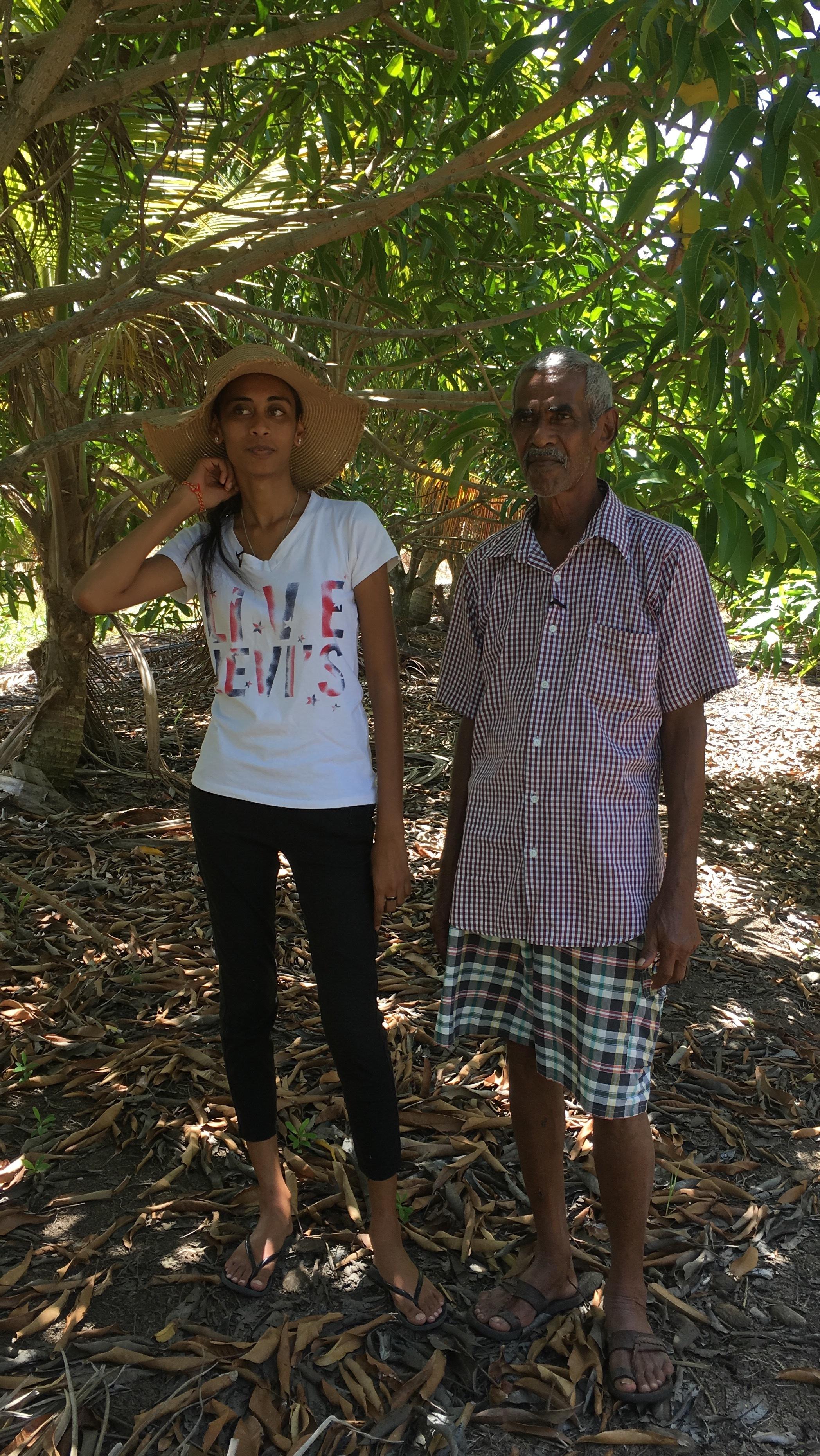 Mr. Nandoo and his daughter Lonella