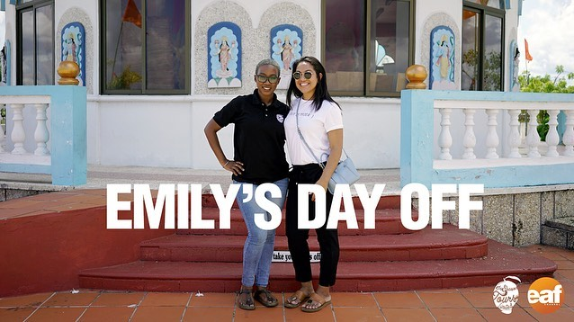 Emily reached out to us saying that she wanted a day off that would allow her to take it easy and eat some good food.  We gave her a mini food tour on her day off. Who doesn't love a little road trip with good food along the way.  Check out the full video on @eatahfoodtt YouTube channel. (Link in bio)  #foodfinds #foodtour #foodtourism #inseasontours #trinidadandtobago #caribbeanfood #eatahfood