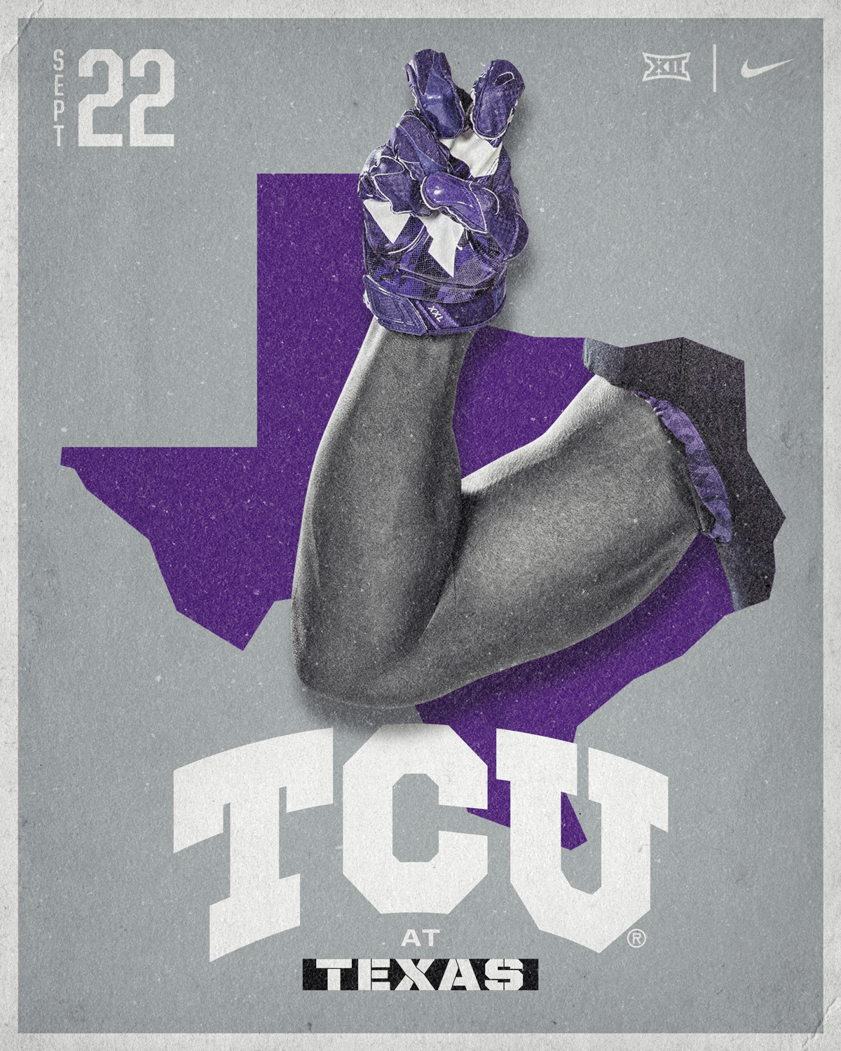TCU vs Texas Postcard