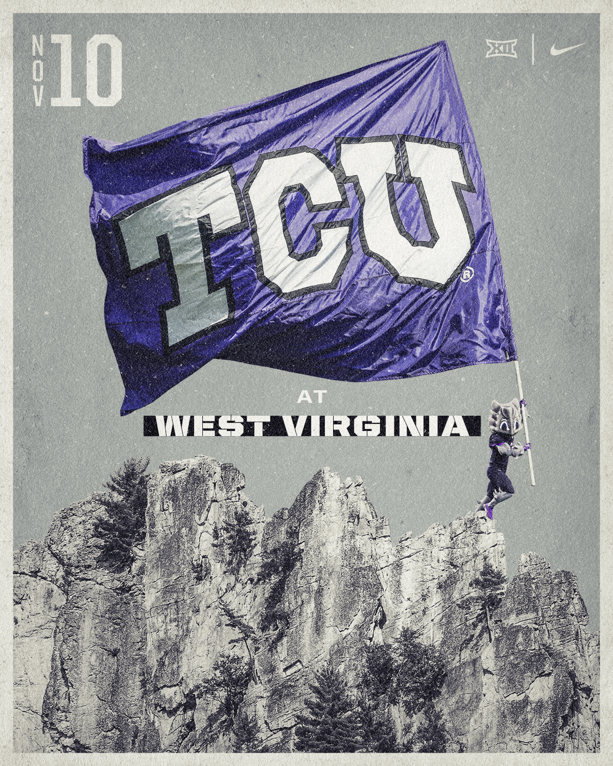 TCU vs WVU Postcard