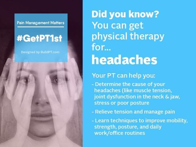 Are you suffering from headaches? Make an appointment today with a physical therapist to learn techniques that can help you manage the pain.  For more information and to book an appointment, visit our website at the link above. --- #getpt1st #nikaoperformanceandrehab #physicaltherapy #azphysicaltherapist #headaches #physicalhealth #healthylifestyle #healthcare #qualitycare #exercise