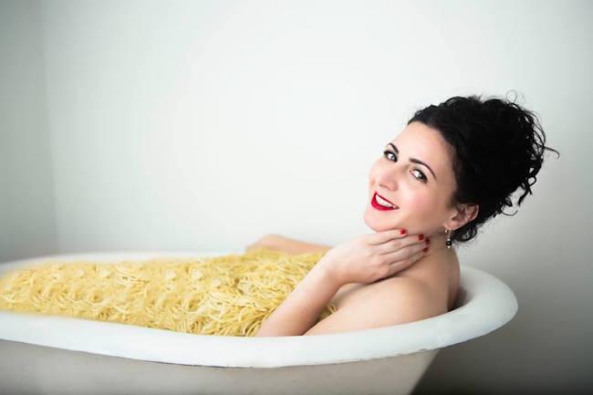 Photographer  Catherine King . Hair stylist  Vicki Alexander of Salon Venustas. Expert eyebrow designer & esthetician  Tracy Nigosanti of Skinsations. Makeup artist  Alexis Gambardella.