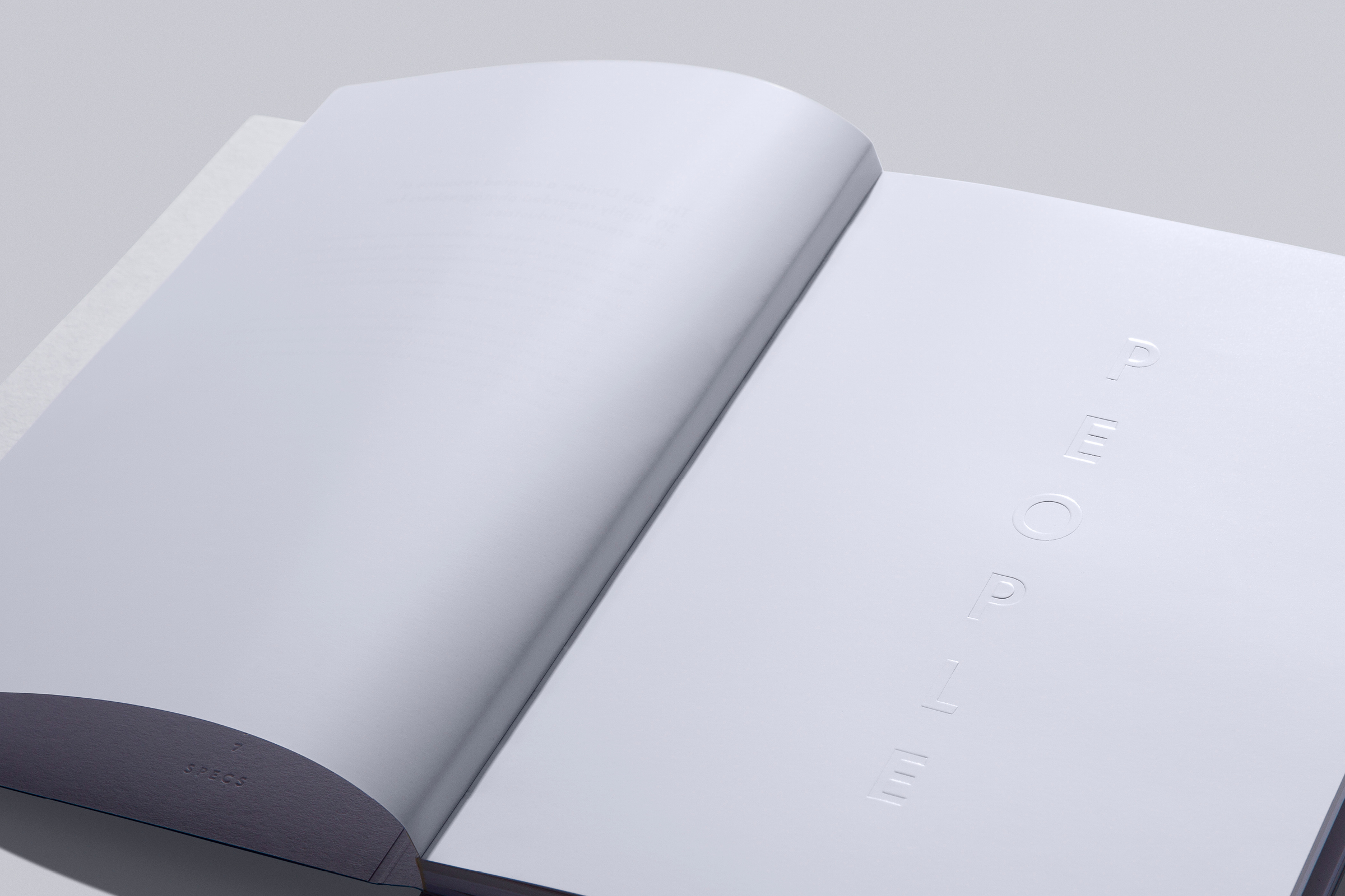 PEOPLE –INTRODUCTION  Alternating single level emboss and deboss on Silk-HD Gloss 150 gsm.