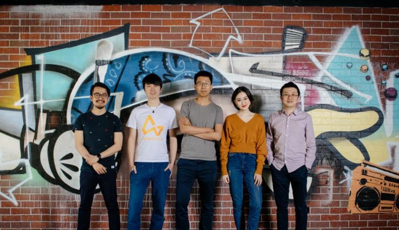 Airwallex founders Max Li (Product Architect), Jacob Dai (CTO), Jack Zhang (CEO), Lucy Liu (COO) and Ki-lok Wong (Principal Architect). Photo courtesy CIO from IDG.