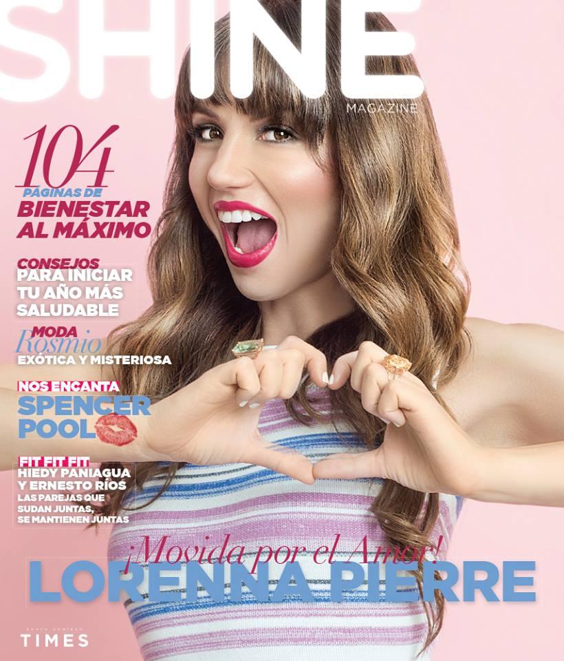 Lorenna Pierre para la portada de la revista Shine. 2016.