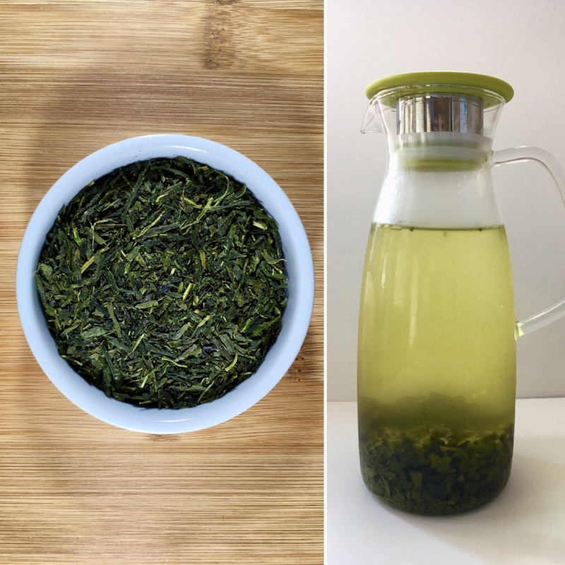 Pictured above is  Sencha  green tea cold brewed for 12 hours.