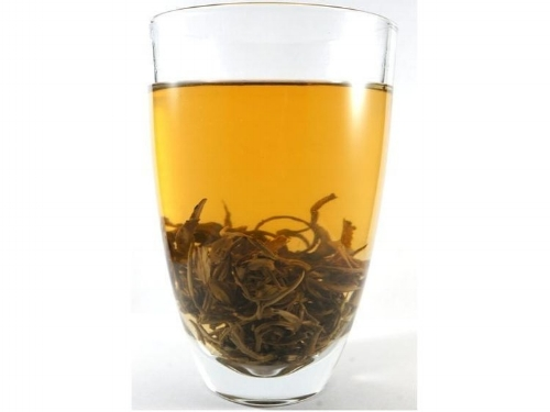 Pictured above is a brewed cup of Jasmine Dragon Pearls. Click to view product.