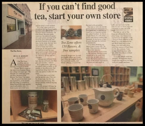 Tea Zone, a tea shop owned and operated by Wen and his cousin was featured in Somerville Journal in 2007