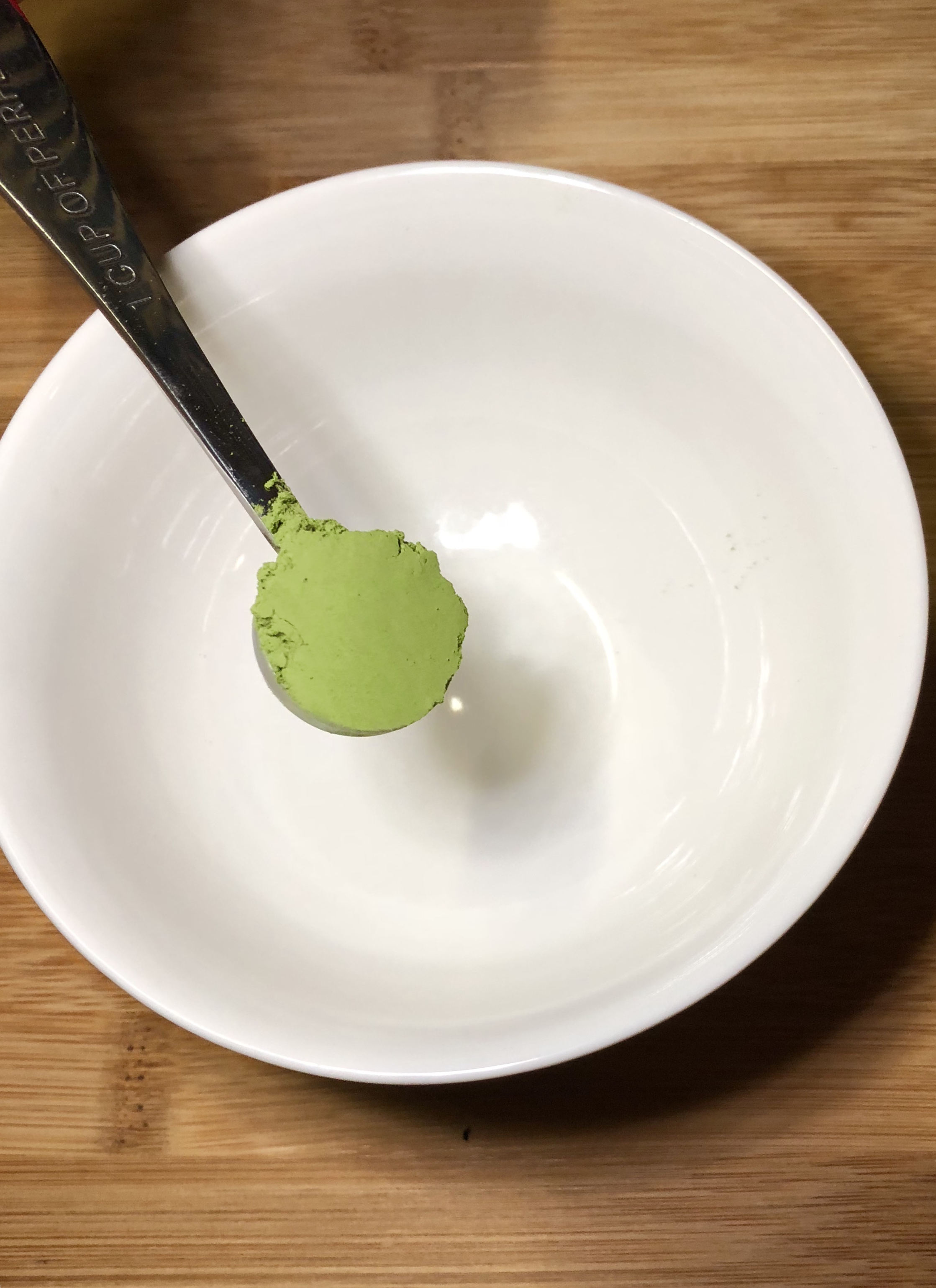 Matcha  being added.
