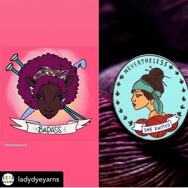 "Repost from @ladydyeyarns I want to repost this from last month. I know I shouldn't say sorry for keep reposting this club but I feel like I have to because it's for a really important project I am working on for this Fiber community that includes raising money to pay people in this Fiber community and to bring awareness to social justice issues AND get crafters involved in the 2020 election. We have two weeks before we close the September Badass Craftivist Club. All the information is below. I'm hoping you read it. Consider signing up and share with everyone. I want to add that the money from the September Badass Club will go to pay the other business providing items in the club BUT the rest of the money is being used to actually pay people in our community to be guest writers and freelance photographers for this project. I plan to use this money as seed money to get it started. This club is also part of the larger crowdfunding campaign I'm doing also available through my website. Check it out. . . Last month, we added my dear friend and BIPOC business owner @nerdbirdmakery to the list of businesses in this club with her ""Nevertheless She Knitted"" enamel pin. Other items include ...@ladydyeyarns variegated colorway with colors representing the Women's Suffrage Movement (like I did last year) ... @mrsumakes- stitch markers based on the theme of that month ... @crochetluna – a button ... @beantownteaspices- artisan tea ...AND we will also have civic 101 information and other material related to the state you are in regarding primaries.  We have one year and four months until the 2020 election AND in 2020 marks the 100th anniversary of the Women's Suffrage Movement. I want to use Rebel with a Cause 2020 September Club as a starting point to tuning in to what's going on and really being proactive in this process. ."