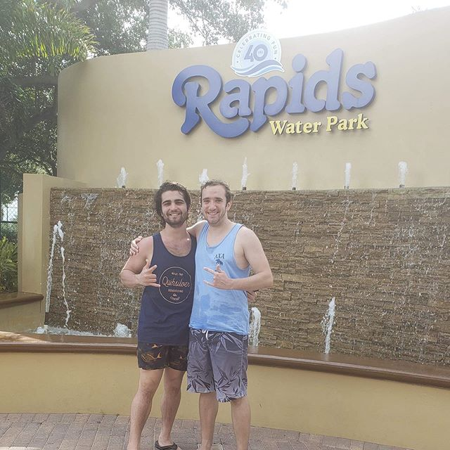 Summer is here! That means it's time to relax and enjoy the weather! Two of our brothers know the perfect way to do that by cooling down at the Rapids Water Park in Florida! 🤟🤟