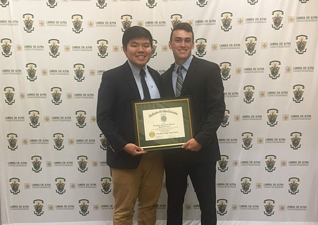 The Brothers of Epsilon Eta are honored and grateful to have received the 2019 Grand High Alpha Award at this years Stead Leadership Seminar hosted by Washington University in St. Louis. Two of our brothers proudly accepted the award and are looking forward to sharing what they learned with our chapter in the upcoming year! ➕🌙🤟