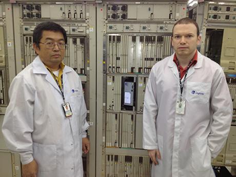 Left to right: Takahiro Matsumoto and Fabiano Valdomiro dos Santos   Logictel Senior Technicians