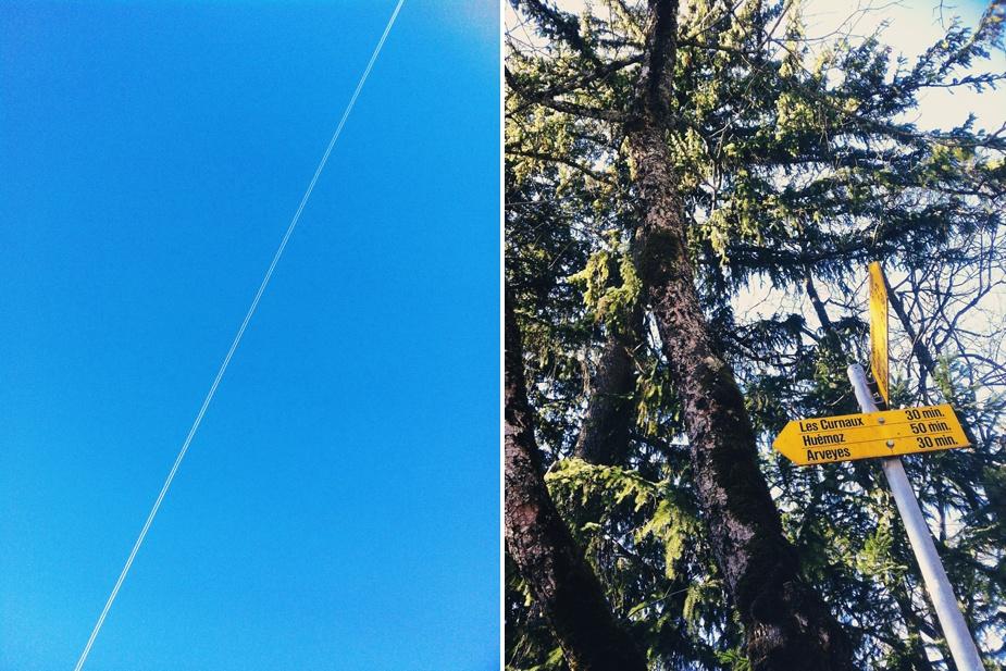 iphone VSCO cam plane trail & sign