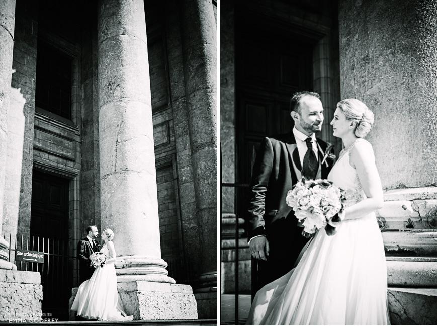 Bride & Groom Geneva Cathedral