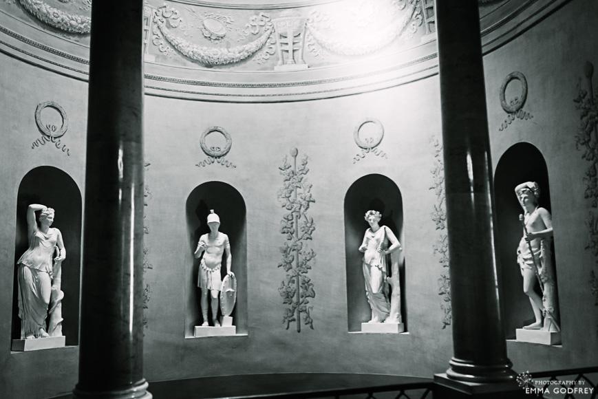 Statues in the foyer of Palais Eynard