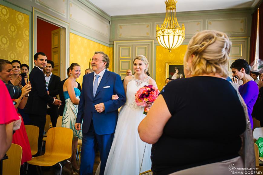 Wedding in the Salon Bleu at the Palais Eynard