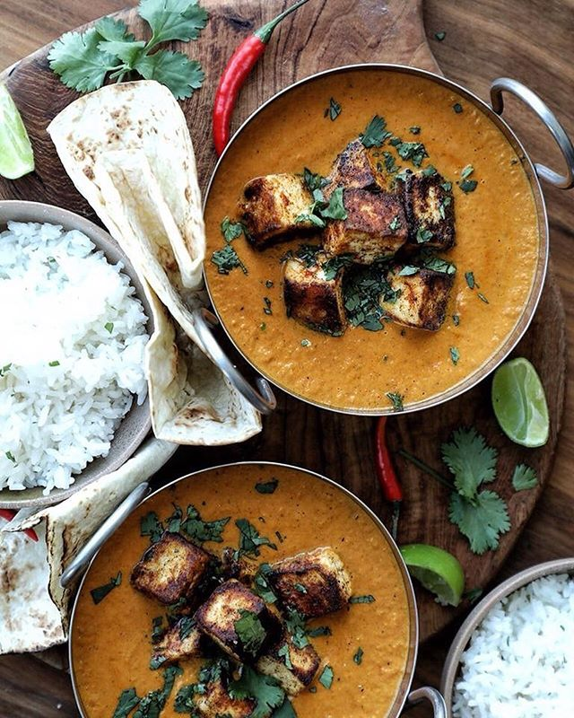 """Looking through the archives for some #meatfreemonday inspiration and I've decided! Tonight we are having this delicious Paneer Butter Masala - insanely good! My recipe for this is on the @afoodieworld website - just search """"paneer"""". Tag me in any dishes you try! Have a great week guys! .  #curry #currynight #paneer #paneermasala #vegetarian #meatlessmonday #meatfreemonday #afoodieworld #foodwriter #foodphotography #foodstyling #foodblogger #hkfoodblogger #feedfeed @thefeedfeed #f52grams #thekitchn #hautecuisines #beautifulcuisines #heresmyfood #gloobyfood #bbcgoodfood #foodieflatlays #mylittlehongkongkitchen #huffposttaste #foodandwine #saveurmag #lifeandthyme #mycommontable #foodieflatlays #bonappetit #saveurmag #pinkladysnapsjun19"""