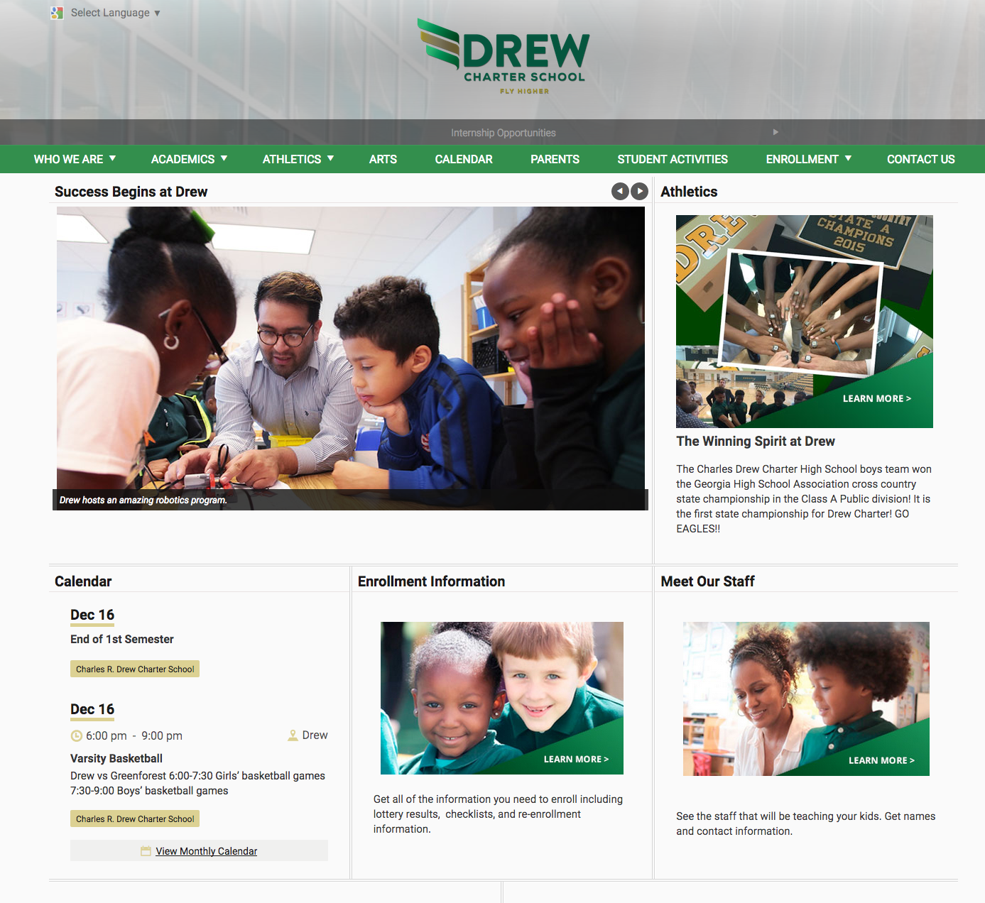 Drew Charter School  in Atlanta, GA.