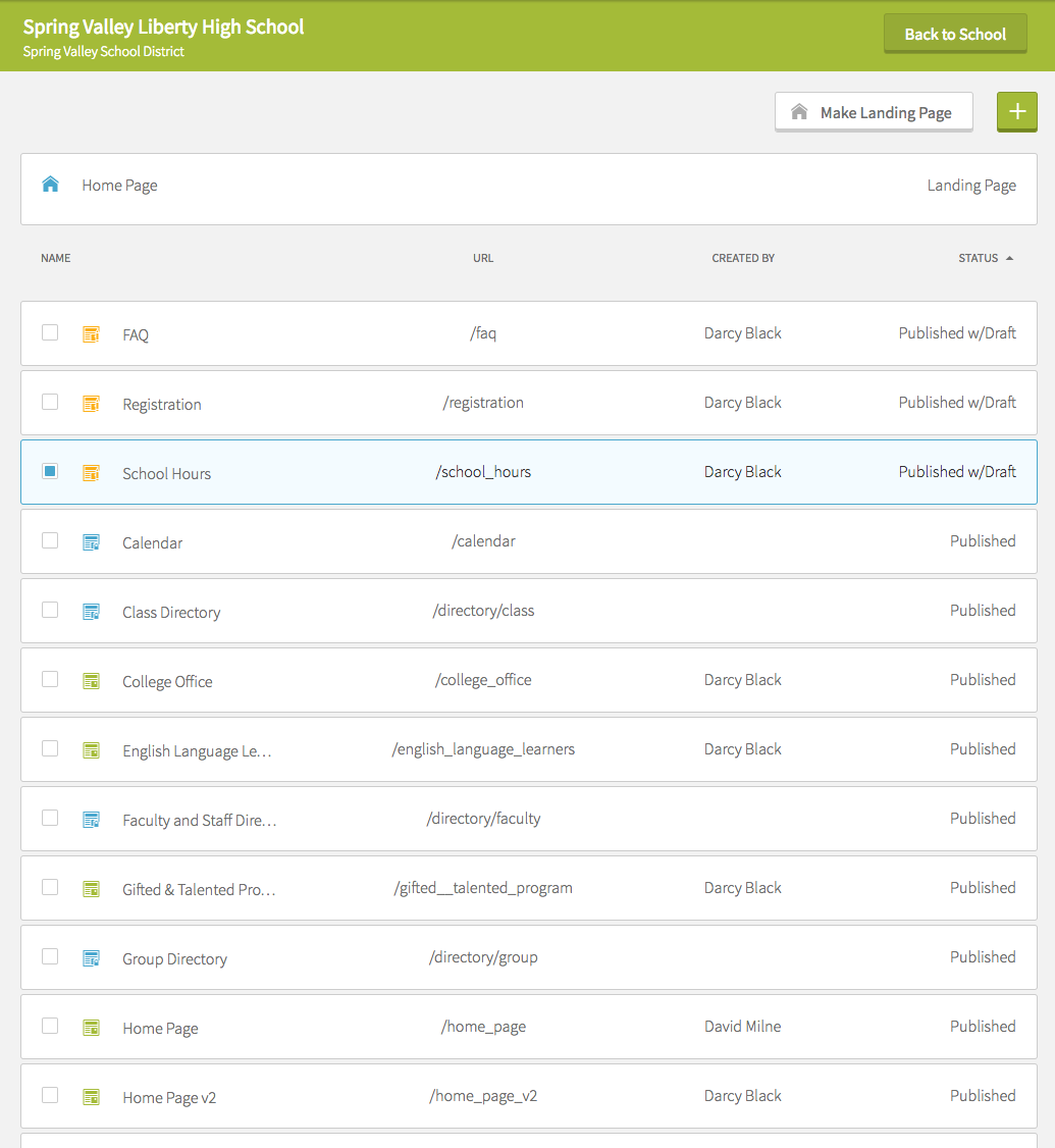 Web Page Management Tool