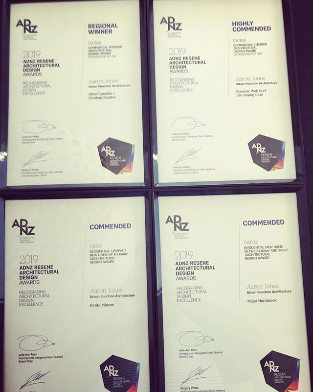 Pretty humbled to be recognised at the Canterbury ADNZ awards last night for a few of our projects. Thanks to all our clients, builders and everyone involved that made these happen. #nzarchitecture #adnz